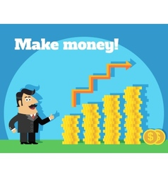Business life make money concept vector