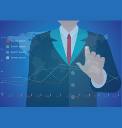 Businessman hand working with new modern computer vector