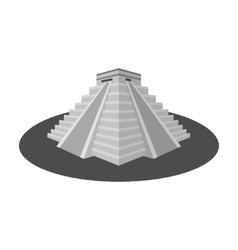 Chichen Itza icon in monochrome style isolated on vector image