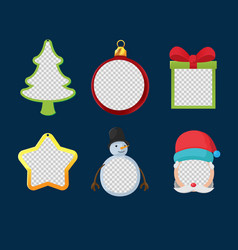 christmas object design frame set vector image