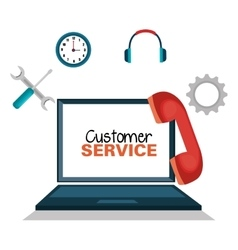 customer service online icon vector image vector image