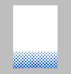 dot pattern page template - design vector image vector image