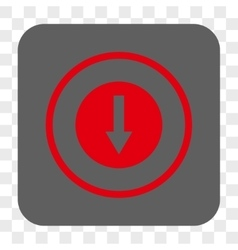 Down rounded arrow rounded square button vector