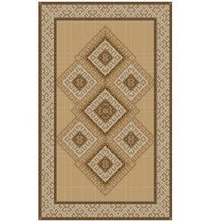 Ethnic rug with yellow and brown shades vector