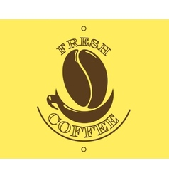 Fresh coffee poster or banner vector image vector image