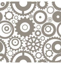 Gear wheels seamless background vector