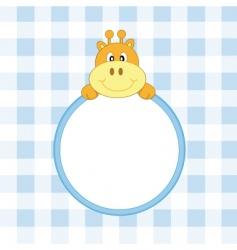 giraffe frame blue vector image