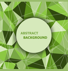 green polygon abstract triangle background vector image vector image