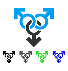 Group gay sex flat icon vector