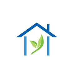 House green leaf logo vector