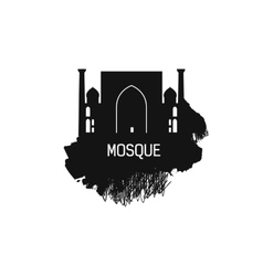 Islam Cathedral silhouette with splash vector image