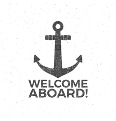 Nautical Design Sailor emblem Anchor vector image
