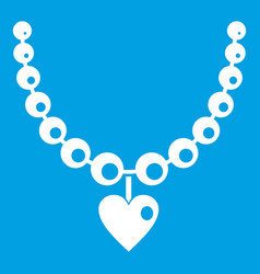 necklace icon white vector image vector image