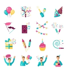 Party Icons Set vector image vector image