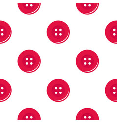 Pink sewing button pattern flat vector