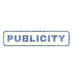 publicity textile stamp vector image vector image