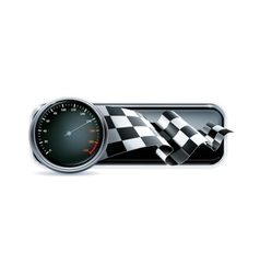 Racing banner with speedometer vector