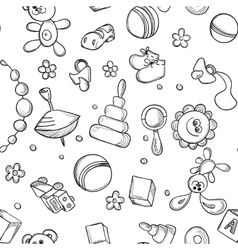 Seamless children background vector