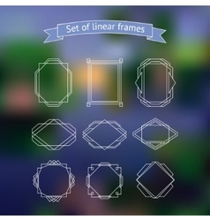 Set polygonal frames vector image