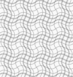 Slim gray wavy lines forming wavy squares vector image vector image