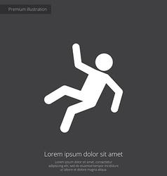 Slippery floor premium icon vector