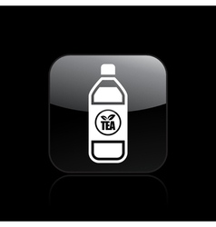 tea bottle icon vector image vector image