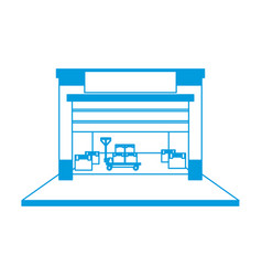 warehouse logistic forklift boxes operation vector image