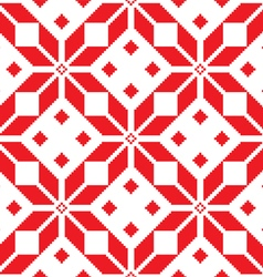 Winter knitted pattern card - Scandinavian vector image vector image