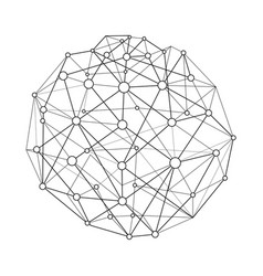 Wireframe connecting sphere vector