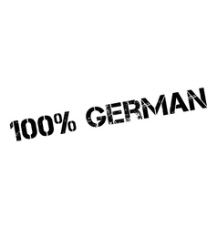 100 percent german rubber stamp vector
