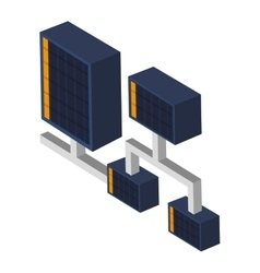 Server connection icon vector