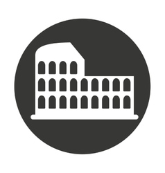 Coliseum roman isolated icon vector