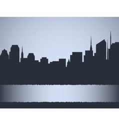 background with city landscape vector image