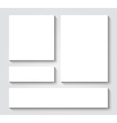 blank card templates vector image