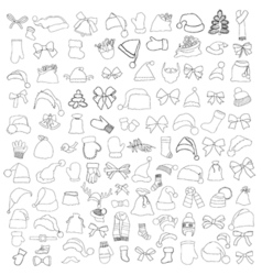 Patch badges of different merry christmas vector