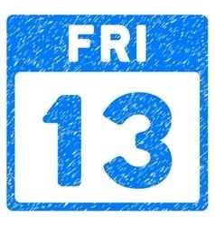 13 friday calendar page grainy texture icon vector