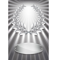 Laurel award silver vector