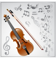 Violin musical background vector