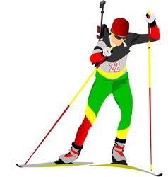 al 0719 biathlon 03 vector image