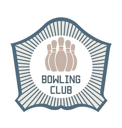 Bowling Club vector image
