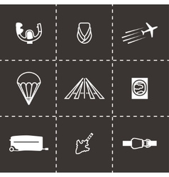 Airplane icon set vector