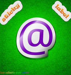 E-mail icon sign symbol chic colored sticky label vector