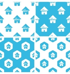 Rental house patterns set vector