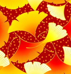 Dancing autumn leaves vector image
