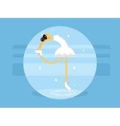 Figure skating flat style vector
