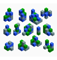 Isometric abstract geometric vector