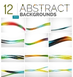Collection of abstract backgrounds vector image