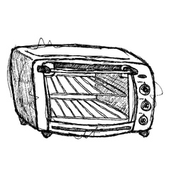 Scribble series - oven vector