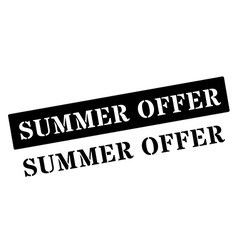 Summer offer black rubber stamp on white vector
