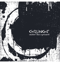 Grunge black and white distress texture vector